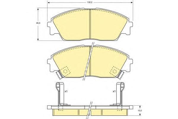 6107639 Колодки тормозные HONDA CIVIC 88-91/PRELUDE 87-92 передние