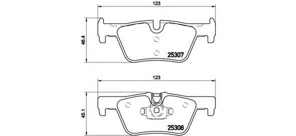 P06071 Колодки тормозные BMW 1 F20 10-/3 F30 11- задние