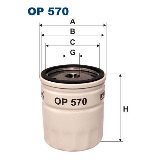 OP570T Фильтр масляный OPEL/GM/DAEWOO (без упак.)