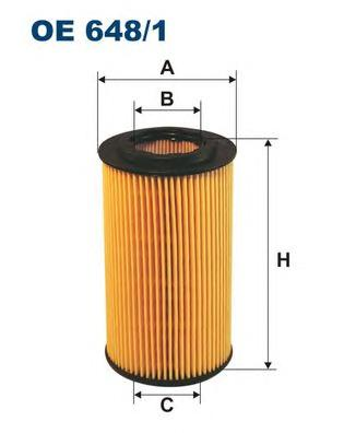 OE6481 Фильтр масляный OPEL VECTRA B/OMEGA B