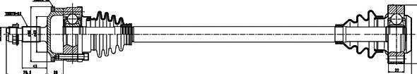 235008 Привод в сборе MB E W210 2.0D-2.5D 95-02 зад.лев./прав. +ABS