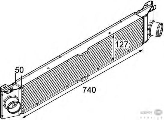 8ML376746011 Интеркулер FIAT DUCATO 2.3TD 06-