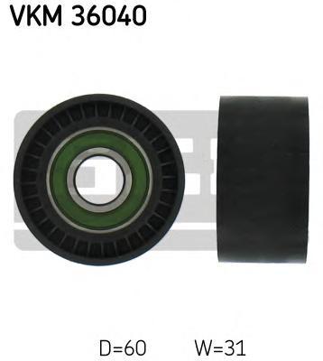VKM36040 Ролик ремня приводного RENAULT LAGUNA/TRAFIC/OPEL MOVANO/VOLVO S40 1.8-2.5D