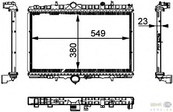 8MK376714391 Радиатор системы охлаждения CITROEN: C5 (DC_) 1.8 16V (DC6FZB, DC6FZE) 01-04, C5 (RC_) 1.8 16V (RC6FZB) 04-, C5 Bre
