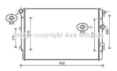 VWA2324 Радиатор VW TIGUAN/SHARAN 1.4-2.0/2.0TD 07-