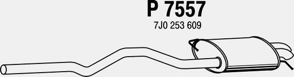 p7557 Глушитель выхлопных газов конечный