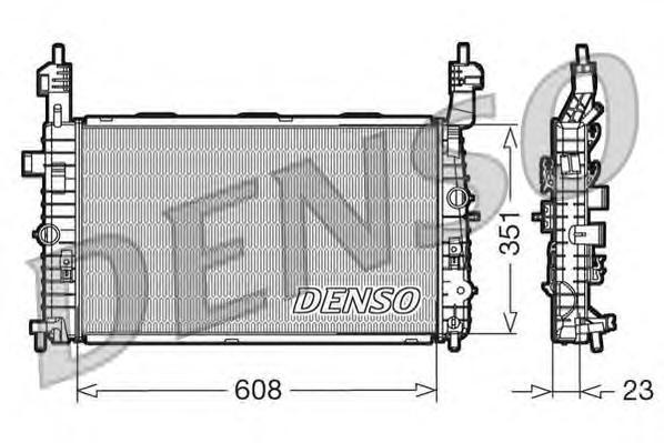 DRM20093 Радиатор системы охлаждения OPEL: MERIVA 1.4 16V Twinport/1.6/1.6 16V/1.8 03 - 10  VAUXHALL: MERIVA Mk I (A) 1.4 16V Tw