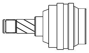 644001 ШРУС OPEL ASCONA C/KADETT E 1.5-1.6 82-93 внутр.