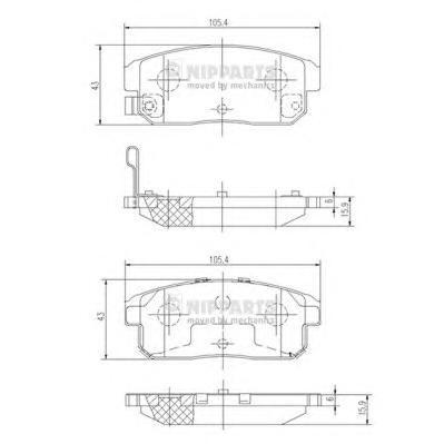 J3613018 Колодки тормозные MAZDA RX8 2.6 03-/SUZUKI IGNIS 1.3/1.5 00- задние