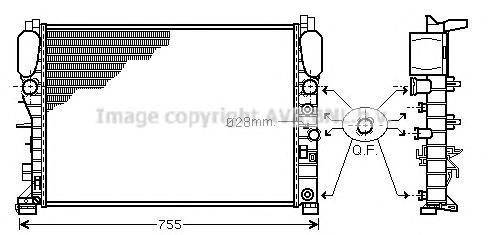 MSA2341 Радиатор MB W211 2.3-3.5/2.0D/2.2D M/T 03-