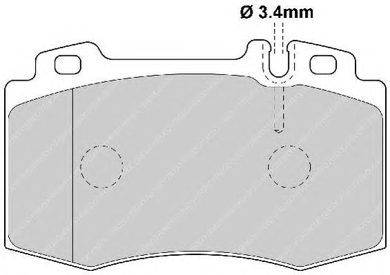 FDB1661 Колодки тормозные MERCEDES C209/W203/W211/W220/R171/R230 передние
