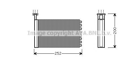 FD6164 Радиатор отопителя FORD MONDEO 1.6-2.0 93-98