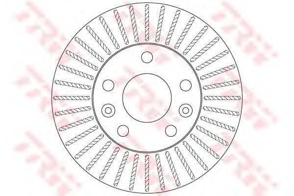 DF6200 Диск тормозной RENAULT DUSTER 11- передний вент.D=269мм.