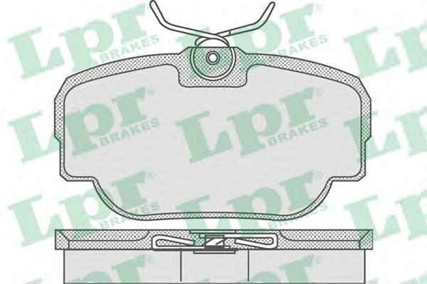 05P739 Колодки тормозные LAND ROVER DISCOVERY 98-04/RANGE ROVER 88-02 задние