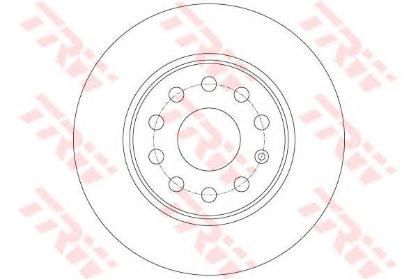 DF7911 Диск тормозной AUDI A3/SKODA OCTAVIA/YETI/VW GOLF VI/JETTA задний D=272мм.