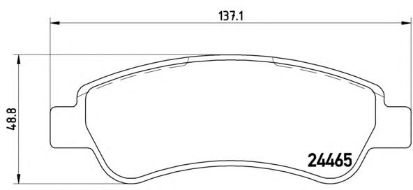 P61091 Колодки тормозные CITROEN JUMPER/FIAT DUCATO/PEUGEOT BOXER (250) 06- задние
