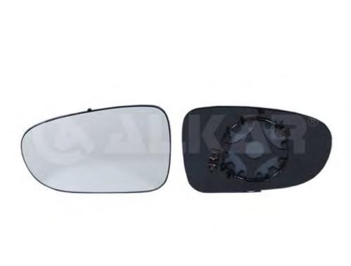 6431130 Стекло зеркала левое, сферическое с подогревом / VW Sharan 95~98, FORD Galaxy 95~06, SEAT Alhambra 95~98