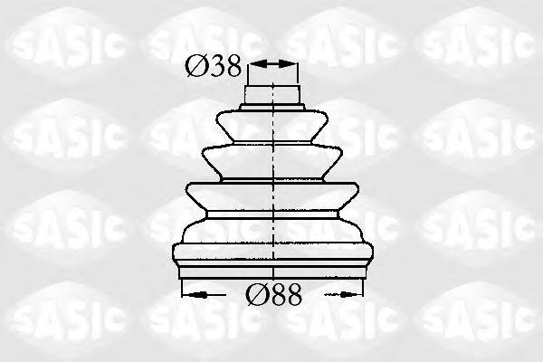 2873803 Пыльник ШРУСа CITROEN JUMPY/XANTIA/PEUGEOT 406/607 96- внутр.