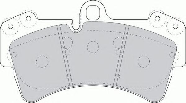 FDB1626 Колодки тормозные AUDI Q7/VOLKSWAGEN TOUAREG/PORCSHE CAYENNE 02 R18 передние