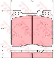 GDB113 Колодки тормозные MERCEDES W140 9198 передние