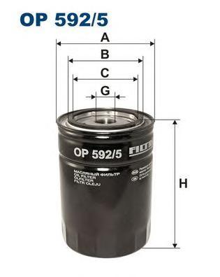OP5925 Фильтр масляный CITROEN JUMPER/PEUGEOT BOXER 2.8D 02-