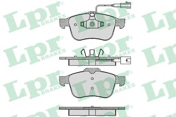 05P1470 Колодки тормозные ALFA ROMEO 159/BRERA/SPIDER передние