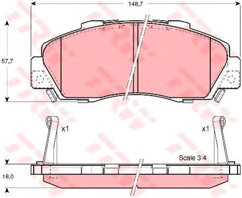 GDB3177 Колодки тормозные HONDA ACCORD 91-98/CR-V 95-02 передние