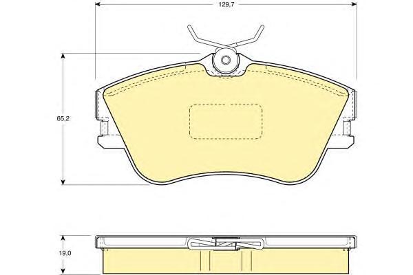 """6110921 Колодки тормозные VOLKSWAGEN T4 2.0/1.9D/2.4D 15"""" передние"""
