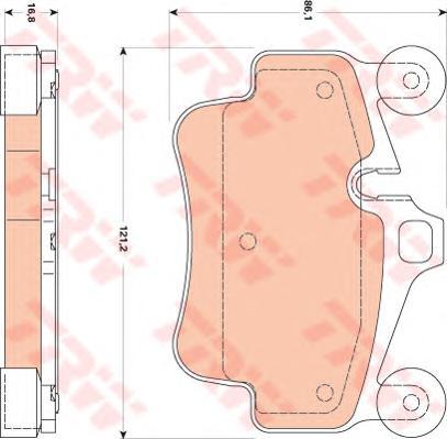 GDB1836 Колодки тормозные PORSCHE 911 04-/BOXSTER 08-/CAYMAN 09- передние
