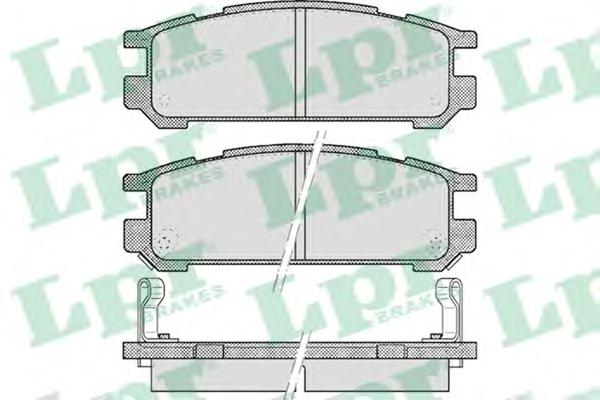 05P517 Колодки тормозные SUBARU INPREZA 1.6-2.0 92-00/LEGACY 1.8-2.5 89-03 задние
