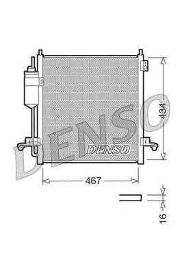 DCN45001 Конденсер MITSUBISHI L200 2.5 DI-D 06-