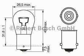 1987301017 Лампа P21W BA15s Pure Light (компл.blister 2шт.)