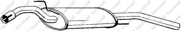 279483 Глушитель VW PASSAT 1.6/1.8/1.9D 88-93