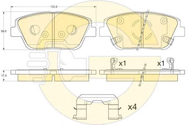 6135405 Колодки тормозные KIA OPTIMA 11- пер.