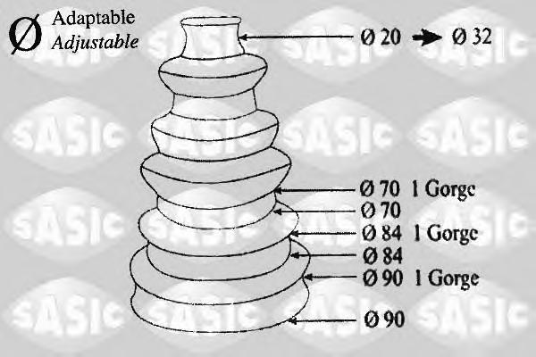 1900001 Пыльник ШРУСа (универсальный/90х84х70х20)
