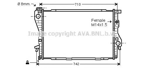 BW2176 Радиатор BMW E39 2.5TD 96-05