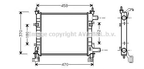 FDA2260 Радиатор FORD KA 1.0-1.3 97-08