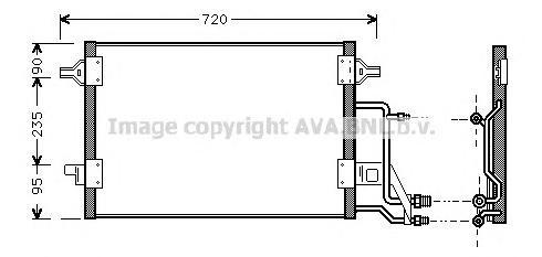 AI5140 Конденсер VAG A4 / PASSAT 1.6-1.9 95-02