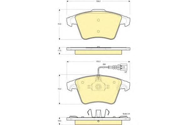 6115562 Колодки тормозные VOLKSWAGEN T5/MULTIVAN 03 R17 передние