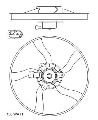47070 Вентилятор без рамки PSA Xsara Picasso (N68)