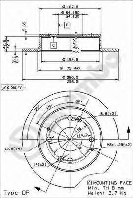 14481 Тормозной диск