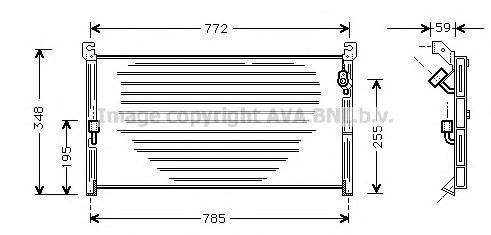 TO5130 Конденсер TOYOTA RAV4 2.0 94-01