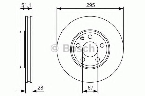 0986479A01 Диск тормозной MERCEDES A(W176) 12-/B(W246) 11- передний D=295мм