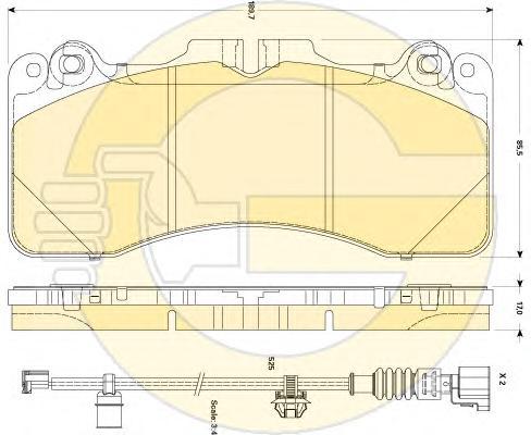 6135059 Колодки тормозные INFINITI FX35/37/50 08-/GS35/37/25 06- передние