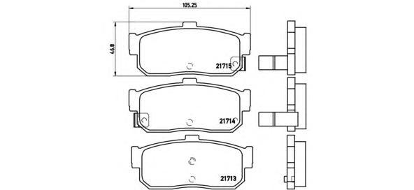 P56029 Колодки тормозные NISSAN ALMERA 95-/MAXIMA 95-/PRIMERA 90-98/SUNNY 87-95 задние
