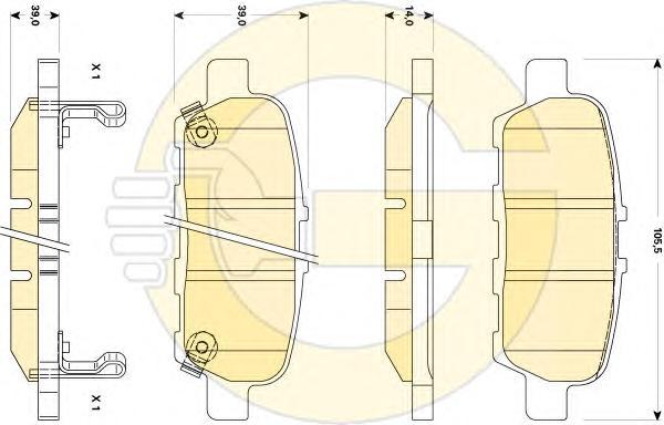 6135079 Колодки тормозные NISSAN X-TRAIL/QASHQAI/TIIDA/INFINITI FX/RENAULT KOLEOS задние
