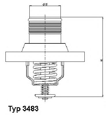 348389D Термостат CITROEN C4/C5/C8/ 1.8-2.0 /PEUGEOT 206/307/406/407/807 1.8-2.0 99-