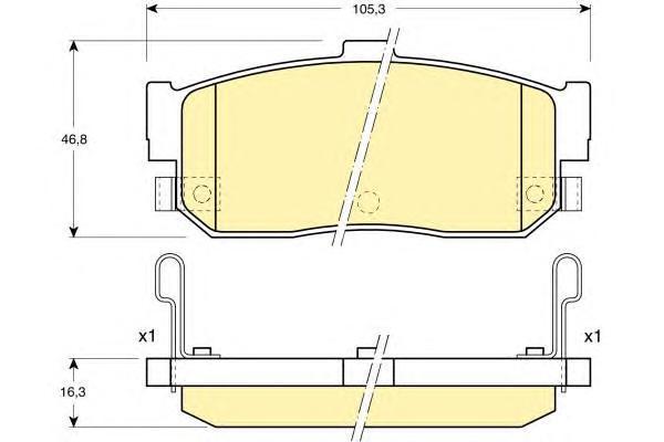 6131819 Колодки тормозные NISSAN ALMERA 95-/MAXIMA 95-/PRIMERA 90-98/SUNNY 87-95 задние