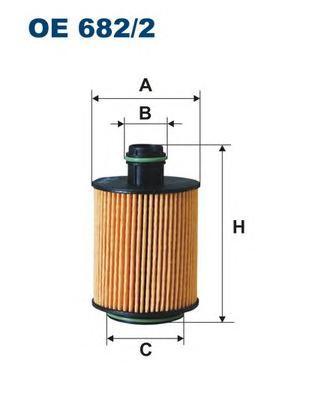 OE6822 Фильтр масляный ALFA ROMEO/FIAT/OPEL/PEUGEOT 1.3D-2.0D 05-