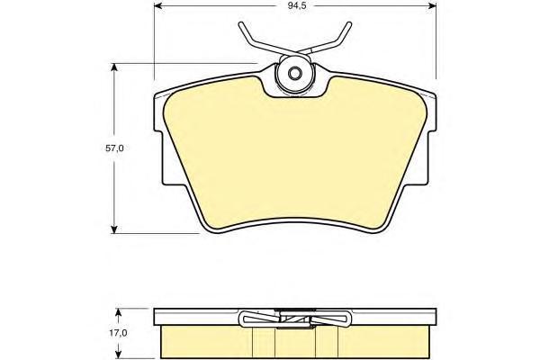 6114791 Колодки тормозные NISSAN PRIMASTAR 01-/OPEL VIVARO 01-/RENAULT TRAFIC 01- задние